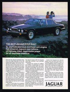 1985 Jaguar XJ6 XJ-6 Luxury Car Best Ever Built Vintage Print Ad