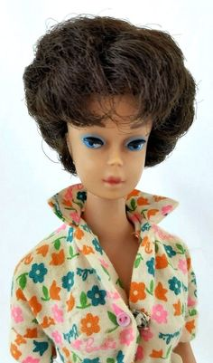 Vintage Barbie Brunette Bubblecut 850 Learns To Cook #1634 1965 Doll & Clothing #Mattel #DollswithClothingAccessories
