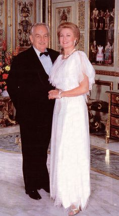Princess Grace and Prince Rainier celebrating their 25th anniversary