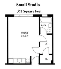 Studio Apartment Floor Plan small studio apartment floor plans | studio apartment | garage