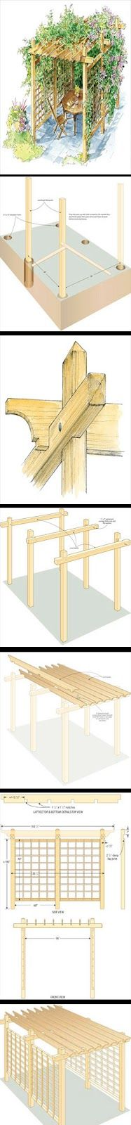 These step-by-step plans will show you how to build a pergola to create your own backyard shade. The finished product will add stylish definition and shape to your yard and garden. From MOTHER EARTH NEWS magazine.