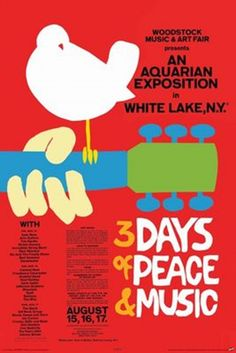 Woodstock 3 Days of Peace Poster - TshirtNow.net