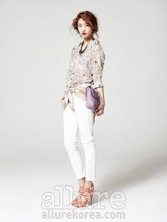 White denim #Fashion#Korea