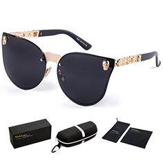 92b4621039 Dollger Skull Design Cat Eye Sunglasses UV400 Protection ... https   www