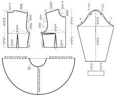 Картинка- vestido (falda en capa) - esquema