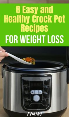 Are you overwhelmed with cooking while youre trying to lose weight? These 8 easy and healthy crock pot recipes for weight loss will help make week nights easier and help you actually stick to your diet! Healthy Weeknight Meals, Healthy Recipes For Weight Loss, Healthy Diet Plans, Healthy Crockpot Recipes, Healthy Habits, Eating Healthy, Healthy Food, Best Diet Foods, Best Diets