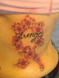 My tattoo I got for my grandma who is a breast cancer surviver