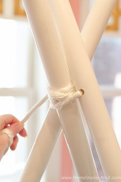 Learn how to create a DIY Teepee No Sew with this step-by-step tutorial. Pipe Diy Projects, Projects To Try, Teepee Tutorial, Diy Kids Teepee, Diy For Kids, Crafts For Kids, Toddler Room Decor, Pvc Pipe, Slumber Parties