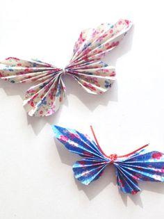 Un joli pliage papillon tout en simplicité pour petits et grands. On craque avec l'arrivée du printemps !