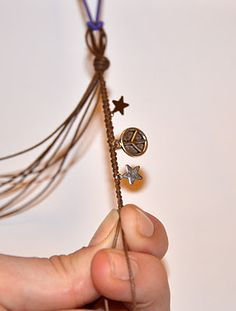 Braided charms for a bracelet.