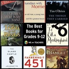 The Best Books for Grades 9-12 chosen by teachers.