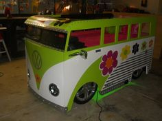 Jack's DREAM bed!    VW Bus Twin Bed Fantasy Themed Childres Bed w by KidsCreationsBeds, $2800.00
