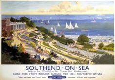 Southend-on-Sea, British Railways travel poster print, Vintage English art – Education Posters Posters Uk, Railway Posters, Poster Prints, Poster Wall, British Railways, British Isles, British Travel, British Seaside, Leigh On Sea