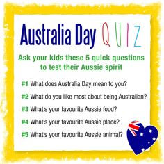 Five simple questions to ask your kids to get them excited about Australia Day… Australia For Kids, Australia Crafts, Indoor Activities For Kids, Preschool Activities, Teaching Kids, Teaching Resources, Aussie Food, Skills To Learn, How To Get