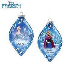 Disney FROZEN Heirloom Glass Christmas Ornament Collection: Elsa, Anna and More