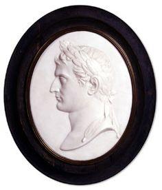 Antonio Canova (1757-1822) - Relief Profile Portrait of Napoléon. Bisque. Circa 1809.