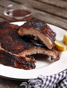 B.B.Q Babyback Ribs as the main dish for the reception meal