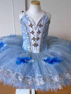 New Collection This amazing professional tutu is our newest creation for the role of Princess Florina and the Blue Bird. The sky blue bodice has been created with semi-shiny pale blue brocad Dance Costumes Ballet, Tutu Ballet, Tutu Costumes, Toddlers And Tiaras, Gymnastics Outfits, Ballet Beautiful, Tiny Dancer, White Satin, Dance Outfits