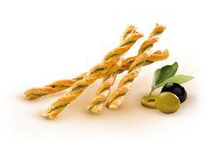 Les Ficelles aux Olives Vertes et Noires Le goût si délicat des Ficelles aux Olives Vertes et Noires est dû aux ingrédients naturels qui sont employés.