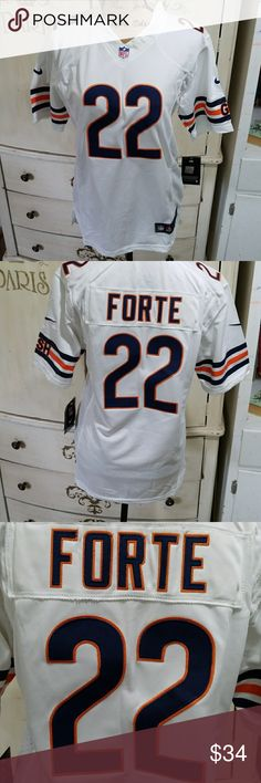NIKE game jersey youth XL FORTE BEARS embroidered New with tags Nike brand  NFL game jersey Matt Forte Bears 22 White 4888a834b9b6c