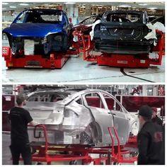 Sneak Peek at Tesla factory production line to watch the behind-the-scenes video click the link in our bio. _____________________________ #tesla #teslas #tsla #teslamotors #teslamodels #teslamodelx #teslamodel3 #teslaroadster #teslasupercharger #P85D #teslalife #teslaowner #teslacar #teslacars #teslaenergy #powerwall #gigafactory #elonmusk #spacex #solarcity #scty #electricvehicle #electriccar #EV #evannex #teslagigafactory _____________________________ . Website: evannex.com…