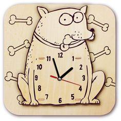Drawing a cartoon clock Dog