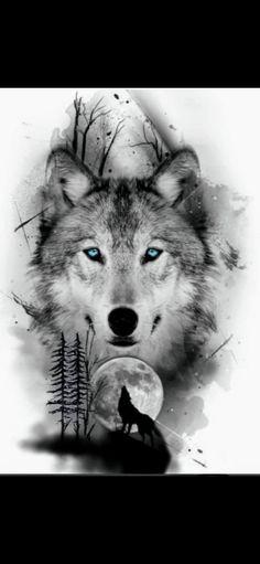 Wolf Tattoo Forearm, Wolf Tattoo Sleeve, Best Sleeve Tattoos, Wolf Tattoo Design, Wolf Photos, Wolf Pictures, Mädchen Tattoo, Body Art Tattoos, Wolf Girl Tattoos
