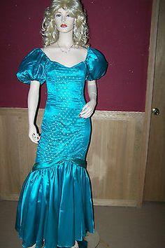 Vintage 80's 90's Satin Formal Prom Dress | eBay