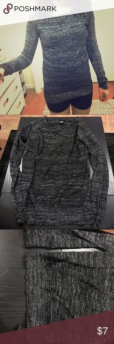 ❣️Sparkly gray/ silver sweater!❣️ Sparkly gray/ silver sweater! Worn once, in good condition. Size small. If you are easily bothered by certain fabrics I wouldn't recommend this sweater, it's not so soft but really pretty! Please feel free to ask questions or make an offer! Thanks! 💞 (All clothing is washed and ironed prior to shipping) Sweaters