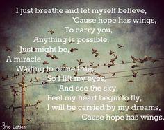 hope has wings -- brie larson