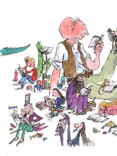 Quentin Blake illustrations this show all the characters of my childhood