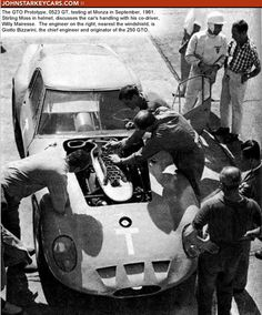 Moss testing GTO Prototype 0523 GT at Monza in September 1961