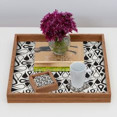 Karen Harris Crocodile Tears In Domino Coaster Set | DENY Designs Home Accessories