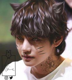 Taehyung Fanarts by 😍❤🔥🔥🔥 (© to ,pics are not mine) . Bts Taehyung, Taehyung Fanart, Bts Bangtan Boy, Foto Bts, K Pop, Estilo Bad Boy, Bts Halloween, Happy Halloween, Fanart Bts