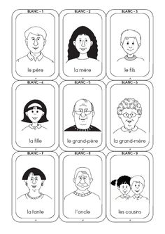 jeu de 7 familles Core French, French Class, French Language Lessons, French Lessons, Speech Therapy Games, French Phrases, School Clipart, French Immersion, Teaching French