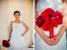 Red Wedding Ideas - Red bouquet
