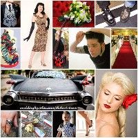 Rockabilly Theme Wedding Inspiration Board