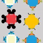 Forminhas Docinhos Personalizados Mickey e sua Turma