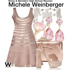 Inspired by Lisa Kurdow as Michele Weinberger in 1997's Romy & Michele's High School Reunion