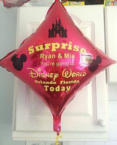 Personalised #disney holiday reveal #balloon ##disneyworld orlando/#disneyland pari,  View more on the LINK: http://www.zeppy.io/product/gb/2/111945430130/