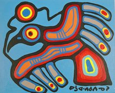 "Learn about Anishnaabe/Canadian artist Norval Morrisseau - - dubbed the ""Picasso of the North"" by the French press. Native Canadian, Native American Art, American Artists, American Modern, American Indians, Inuit Kunst, Inuit Art, Canadian Painters, Canadian Artists"