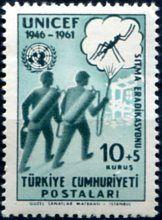 Francobolli . Lotta contro la malaria - Malaria on Stamps Turchia 1961