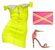 """""""Neon Party!"""" by claire394 ❤ liked on Polyvore featuring Christopher Kane, Charlotte Russe and Danielle Nicole"""
