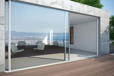 Schuco ASS 77 PD motorised sliding doors