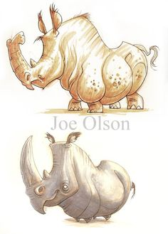 The art of Joe Olson Character Concept, Character Design, Save The Rhino, Illustration Art, Animal Illustrations, Rhinoceros, People Art, Magical Creatures, Animal Drawings