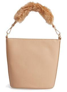 Faux fur handle medium crossbody bag by Leith  leith  bags Medium Crossbody  Bags, beeacf586a