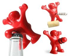 They say happiness is a state of mind. However, it can manifest itself in other physical states, just like these guys. Grab a Happy Man bottle opener, corkscrew or bottle stopper for $10 from Farza Wholesale Bottle Stoppers, Bottle Opener, Pick Me Up, Non Alcoholic, Auction, Canning, Happy, Happiness, Guys