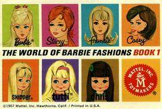 Vintage Mod Barbie booklet