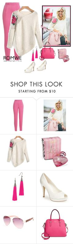 """""""Floral Crochet Loose Sweater"""" by mamiigou ❤ liked on Polyvore featuring Vionnet, Lipsy, Eddie Borgo, Menbur, Full Tilt and Kate Spade"""