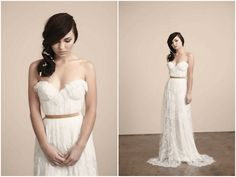 Beautiful lace wedding dress- Sarah Seven wedding dress | Nikole Ramsay Photography